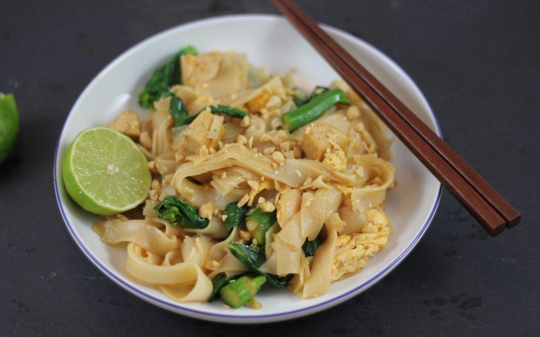 Rezept: Gebratene Reisnudeln mit Tofu und Ei
